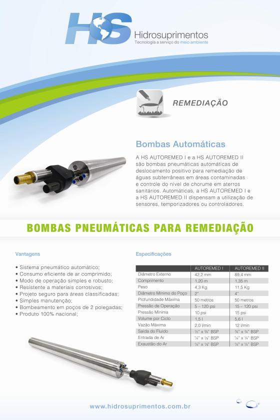 Bombas Automáticas Pneumáticas para Remediação HIDROSUPRIMENTOS